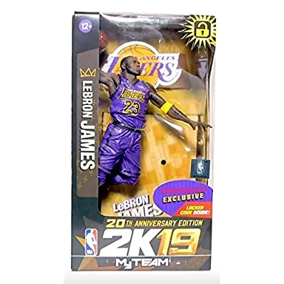 "NBA 2K19 McFarlane Lebron James 7"" Figurine 20th Anniversary Edition Action Figure (Exclusive): Toys & Games"