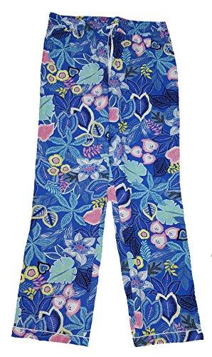 Secret Treasures Cobalt Crush Floral Woven Poplin Sleep Pants - ()