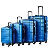 Coolife Luggage 3 Piece Set Suitcase Spinner Hardshell Lightweight (family...