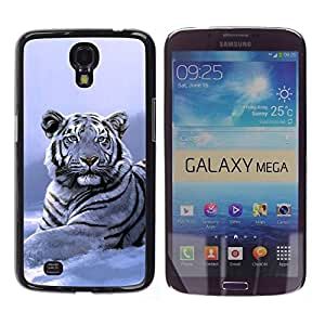 Impact Case Cover with Art Pattern Designs FOR Samsung Galaxy Mega 6.3 Winter Snow Tiger White Blue Cold Betty shop