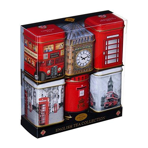 New English Teas - Mini English Tea Selection 6 Mini Tins