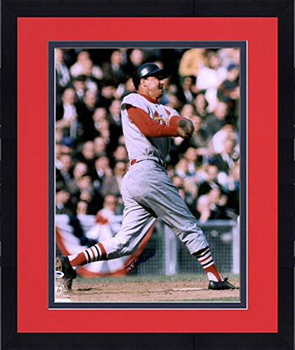 (Framed Stan Musial St. Louis Cardinals Autographed Vintage 16