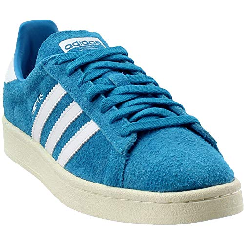 (adidas Men's Campus Stich and Turn Bold Aqua/Footwear White Ankle-High Leather Fashion Sneaker - 9M)