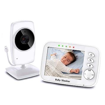 TOPERSUN Baby Phone 3,2 Zoll Baby Monitor 2.4 GHz Baby Kamera mit LCD Nachtsichtkamera HD Digital Video & Bidirektionale Intercom Funktion