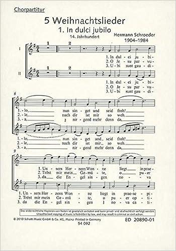 Weihnachtslieder Für Kinderchor Noten.5 Weihnachtslieder Frauen Oder Kinderchor Oder 2 Solostimmen Sa
