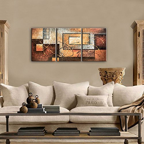 Phoenix Decor-Abstract Canvas Wall Art Paintings on Canvas for Wall Decoration Modern Painting Wall Decor Stretched and Framed Ready to Hang 3 Piece Canvas Art (Best Selling Abstract Paintings)