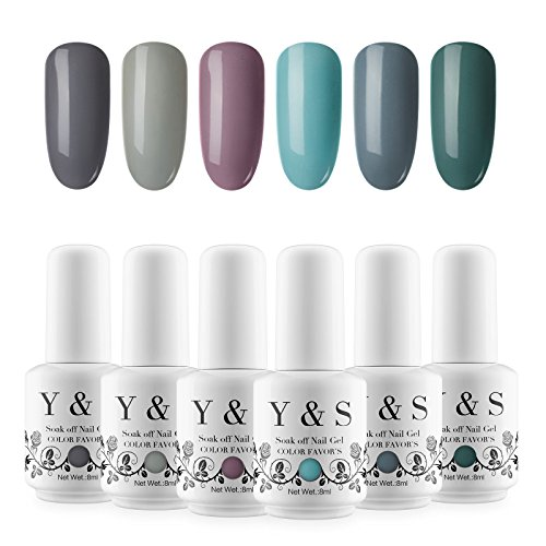 Yaoshun Soak Off UV Gel Polish Set - Y&S Cool Color Series 8
