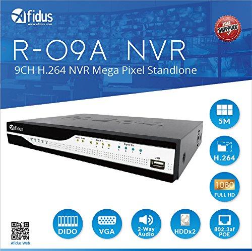 Amazon com : Afidus R-09A 9-Channel Standlone NVR ONVIF H 264 48