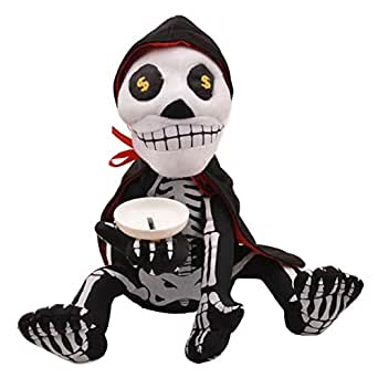 Zhengpin Educational Tonsen Skeleton Piggy Bank Coin Box Money Saving Funny Plush Toy with Music & Dance
