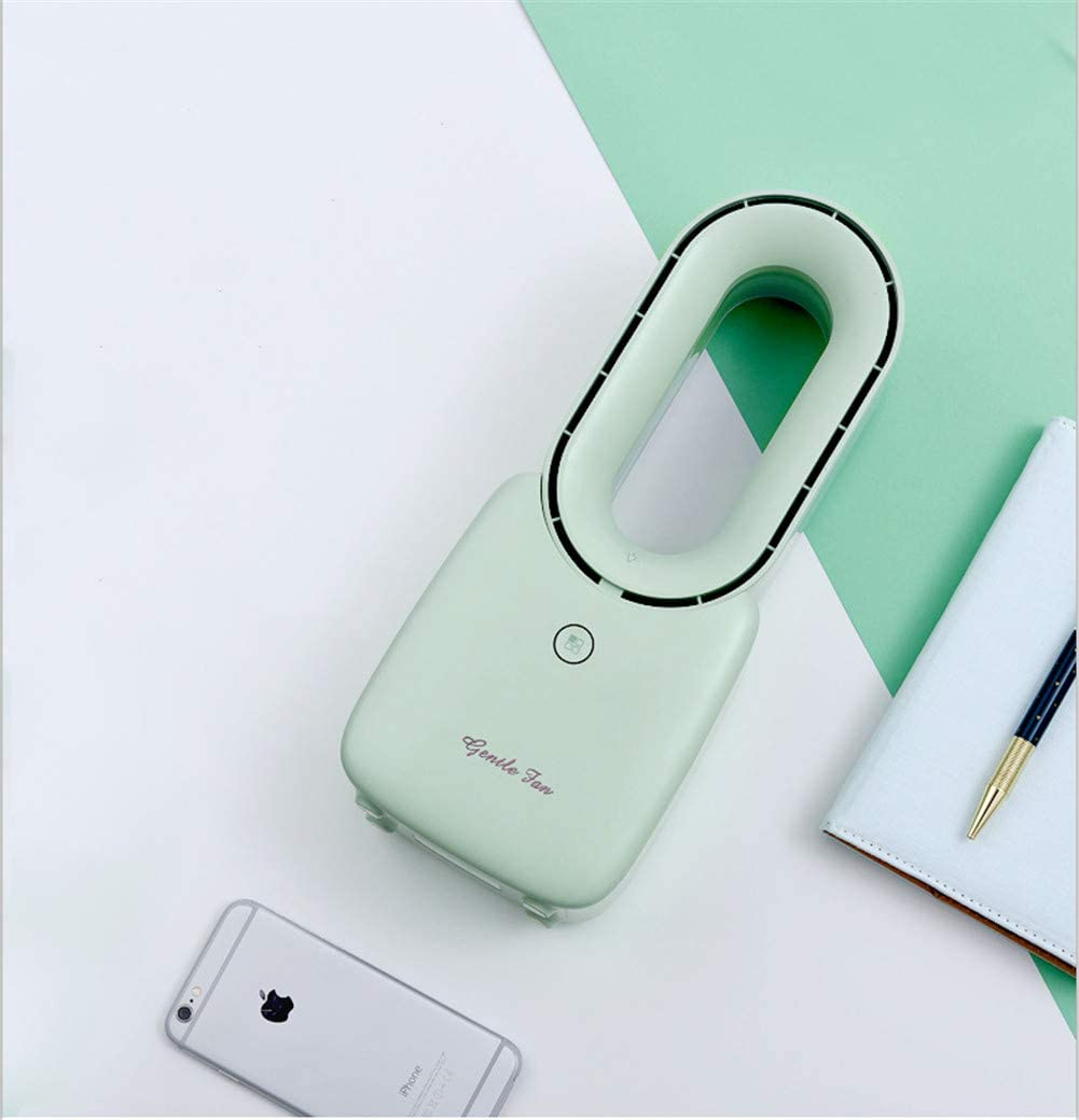 DevilLover Leafless Electric Fan Charging Mute Portable Bladeless Fan for Office Desk Dormitory Home