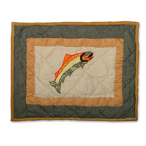 Patch Magic 16-Inch by 12-Inch Fly Fishing Crib Toss Pillows