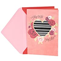 Hallmark Valentine's Day Greeting Card for Wife (Heart with Ribbon Stripes)