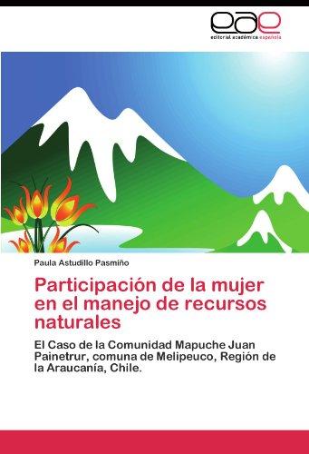 Descargar Libro Participación De La Mujer En El Manejo De Recursos Naturales Astudillo Pasmiño Paula