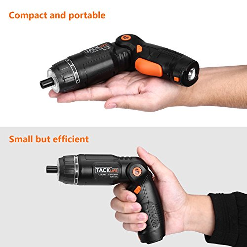 Tacklife SDH13DC Cordless Screwdriver 3.6-Volt 2000mAh MAX Torque 4N.m - 3-Position Rechargeable - 31 Screwdriver Bits in Case, 4 LED Light, Flashlight, USB Charging for Around House Small Jobs by TACKLIFE (Image #4)