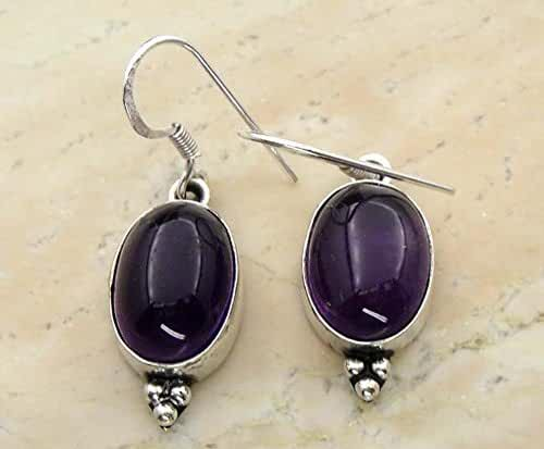 12.00ctw, 10X14mm Oval Genuine Gemstones & 925 Silver Plated Dangle Earrings