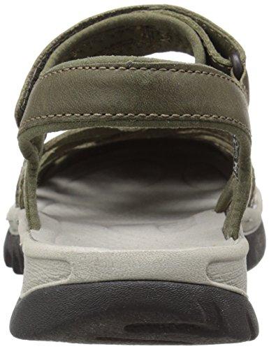 Keen Womens Rose Leather Sandal Burnt Olive/Neutral Gray