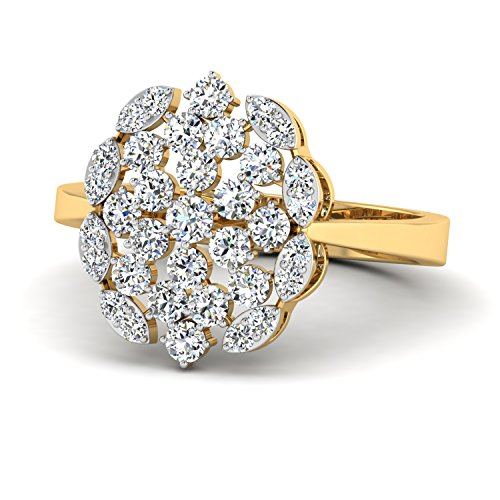 PC Jeweller The Oliana 18KT Yellow Gold   Diamond Rings
