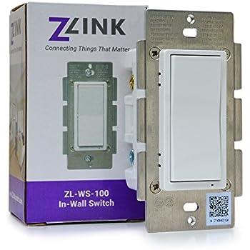 Zlink Zl Ws 100 Z Wave Plus In Wall On Off Switch