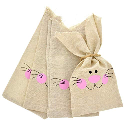 Easter Treat Sacks Bags Cloth with Burlap Drawstring | 24 Pieces 4