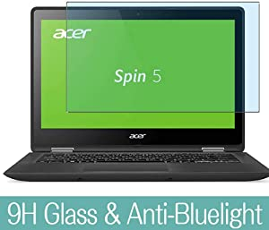 """Synvy Anti Blue Light Tempered Glass Screen Protector for Acer Spin 5 SP513-51 13.3"""" Visible Area 9H Protective Screen Film Protectors (Not Full Coverage)"""