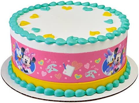 Fabulous Amazon Com Minnie Mouse Daisy Cake Border Side Strips Edible Personalised Birthday Cards Vishlily Jamesorg