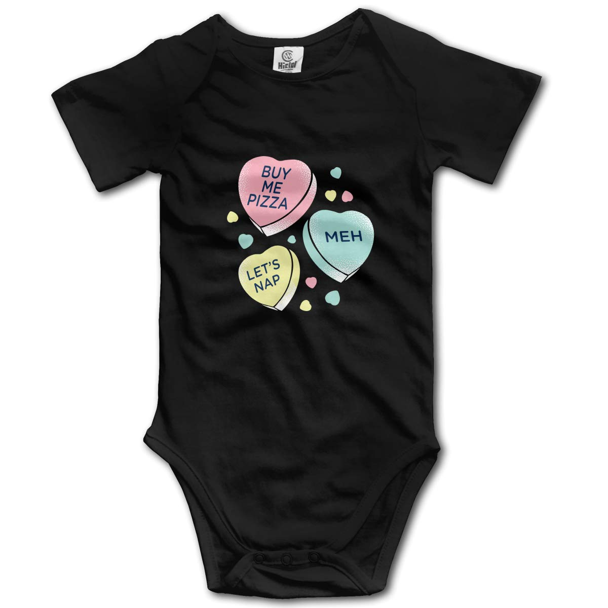 HappyLifea Candy Heart Baby Pajamas Bodysuits Clothes Onesies Jumpsuits Outfits Black