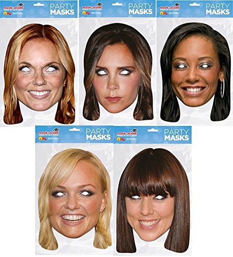 Costumes Dress Girls Spice Fancy (Spice Girls Mask Pack- Includes 5)