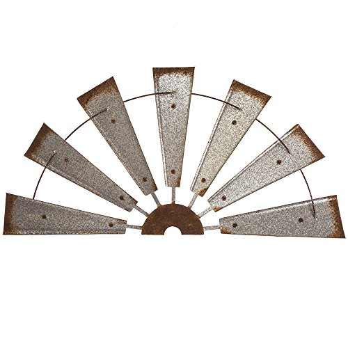 Glitzhome Metal Semi-Circle Windmill Wall Decor by Glitzhome