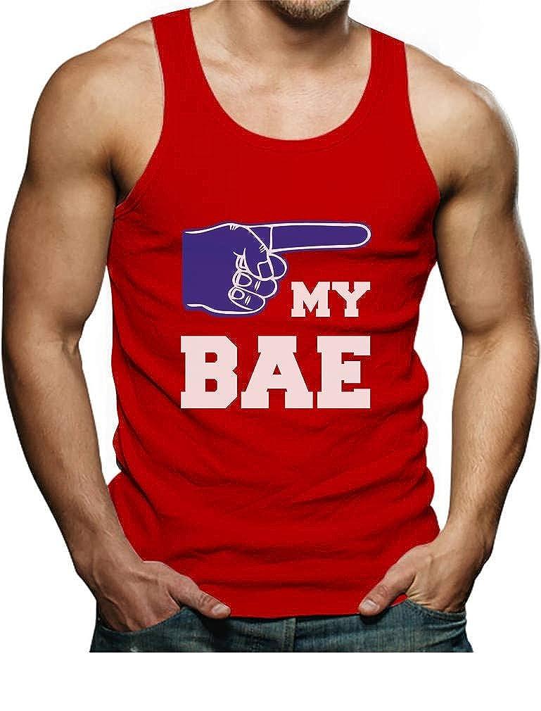 Matching Couples Valentines Gift Idea Cute Singlet TeeStars My BAE