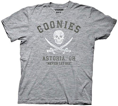 Goonies Never Say Die Astoria Men's Grey T-shirt XL (Data Goonies)