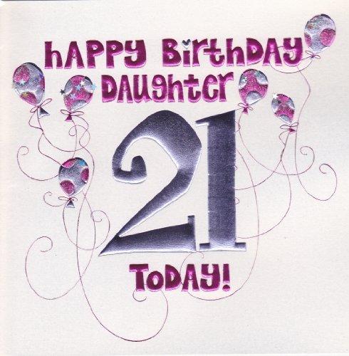 Daughter 21st Birthday Card Large Luxury Birthday Card Amazon – 21st Birthday Cards Daughter