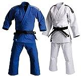adidas Judo Double Weave Gi Uniform (Blue, 2.5/165cm)