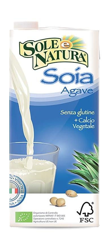 Sun Naturaleza leche de soya con jugo de agave y 1l Fútbol Orgánicos