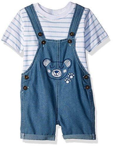 Shortall Blue - Nannette Baby Boys 2 Piece Shortall Set, Blue, 12M