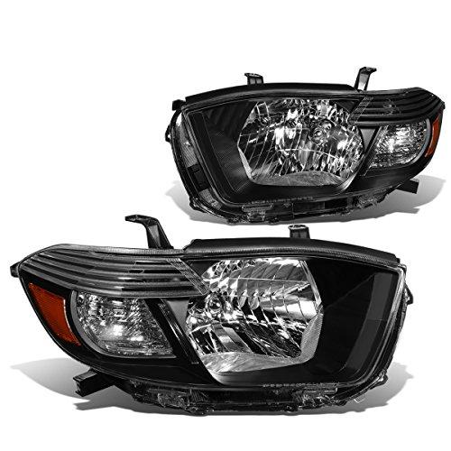 DNA Motoring HL-OH-096-BK-AM Black amber Headlight Assembly (Driver & Passenger Side)