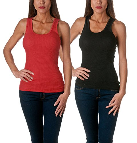 red and black tank top - 9