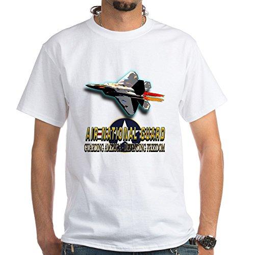 CafePress USAF Air National Guard White T-Shirt 100% Cotton T-Shirt, White