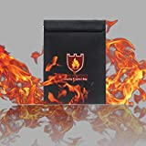 Ikevan Fireproof Document Fire Resistant Pouch Document Waterproof Bag for Money Safe