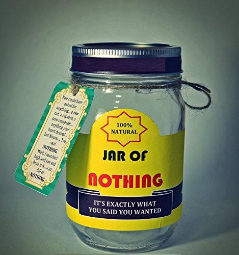 Jar of Nothing - Best Gag Gift | White Elephant Gift | Funny...