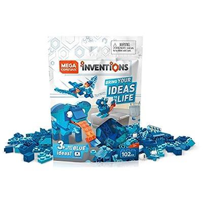 Mega Construx Inventions Blue Brick Building Set: Toys & Games