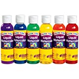 Colorations LWPACK Colorations Liquid Watercolor Paint, Rainbow Pack (Pack of 6)