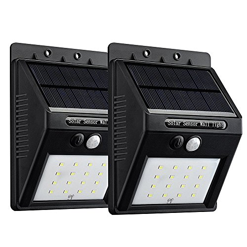 Amazon Lightning Deal 100% claimed: VicTsing 16 LED 320 Lumen Weatherproof Solar Powerd Wireless Motion Sensor Light Lamp w/ 2 Intelligient Modes For Patio, Deck, Yard, Garden, Home, Driveway, Stairs, Outside Wall (2 Pack)