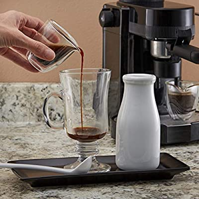 Easy Pour Espresso Cups Set of 4 – Insulated Coffee Shot Glasses with Spout (2.6 oz)
