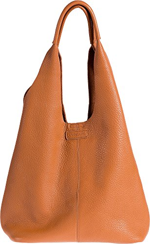 Paula Pebbled Leather Shoulder Bag with Removable Pouch by Overland Sheepskin Co