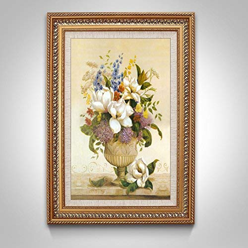 Wall Landscape - Decorative Painting, Wall Handmade Decorative Picture, Flower Arrangement,4060CM,Solid Wood Picture Frame, G6,One