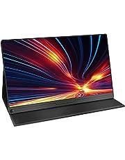 WMWHALE Monitor de viagem tipo C de 13,3 polegadas para laptop, monitor 800:1 com tela Full HD 1920 x 1080 IPS, alto-falante duplo HDMI, monitor portátil com ângulo de visão de 178°