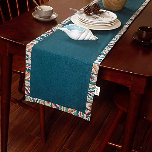 JUFU Table Runner Table Runners - American Country Garden Tablecloth Table Flag Coffee Table TV Cabinet Long Tablecloth Modern Minimalist Furniture Decorative Cloth Bed Flag Bed Scarf (3 Size) @@