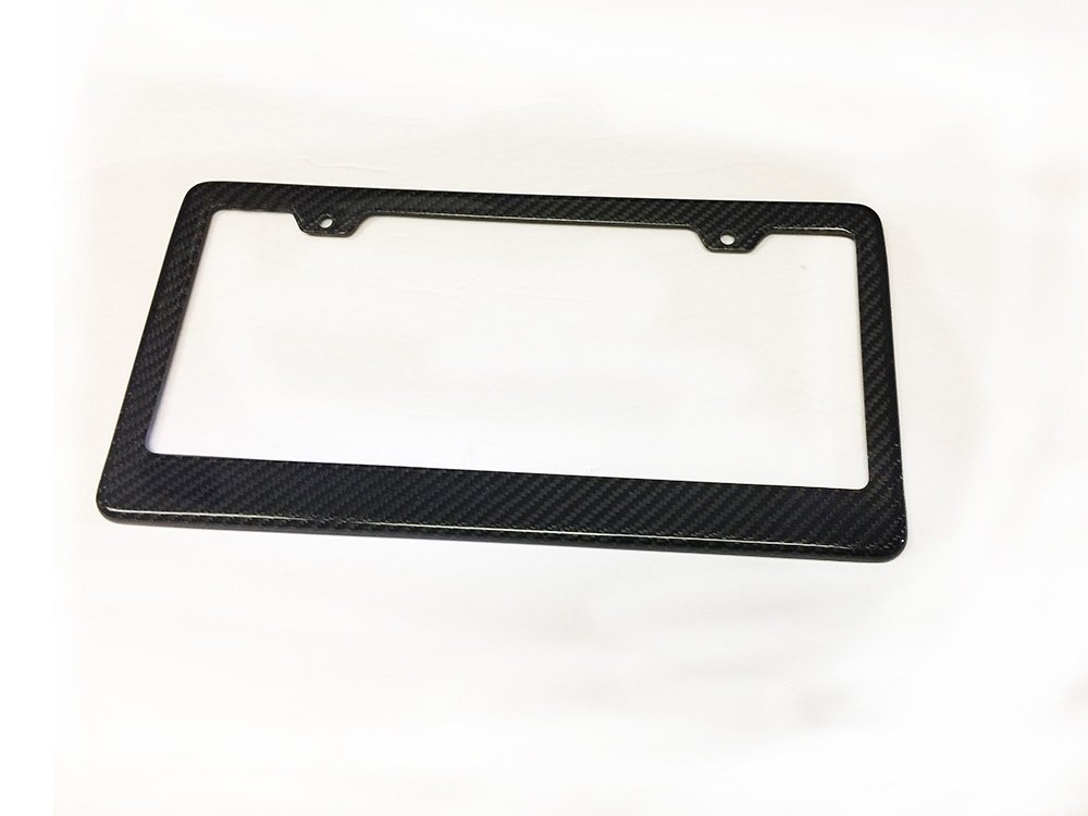 REAL 100% CARBON FIBER LICENSE PLATE FRAME 1 Piece ONLY Generic