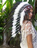 The Sounding Iron Feather Headdress | Native American Indian Style | Many Colors