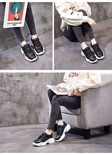 Zapatillas Mujer Gruesos Zhijinli 5size Zapatos Deportivo Salvaje Tamaño Deporte Blancos De 5 Para Correr Calzado xwn884WRqg